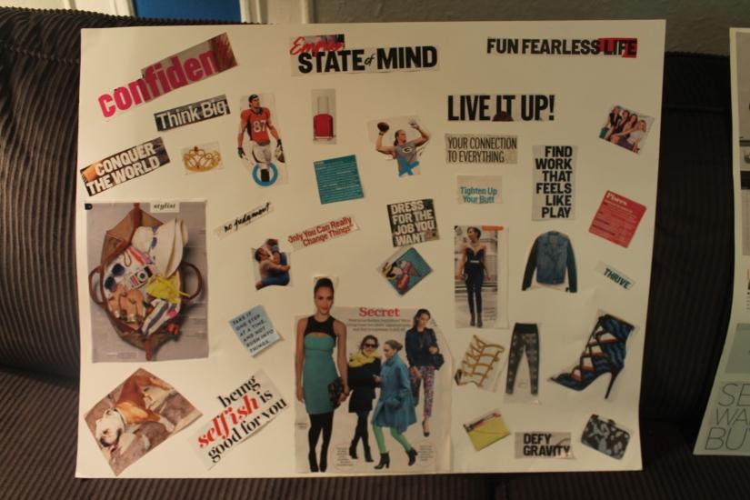 vision board, creative, art, DIY, setting goals, travel, girls night