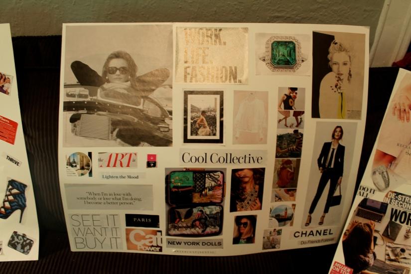 vision board, travel, photos, creative, art, magazines, frames